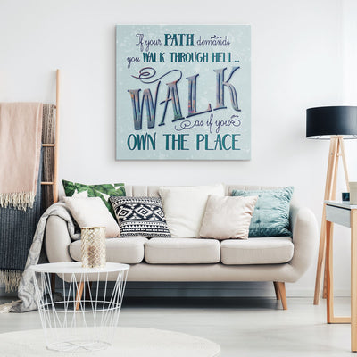 Walk Through Hell • Wall Canvas Canvas Wall Art 2 teelaunch