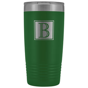 Laser Etched Stainless Steel Insulated Travel Tumbler Executive Monogram