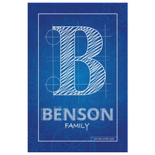 Blueprint Family Name Canvas • Custom Last Name Sign Canvas Wall Art 2 teelaunch 8 x 12
