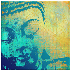 Tree Of Life Buddha Canvas Print