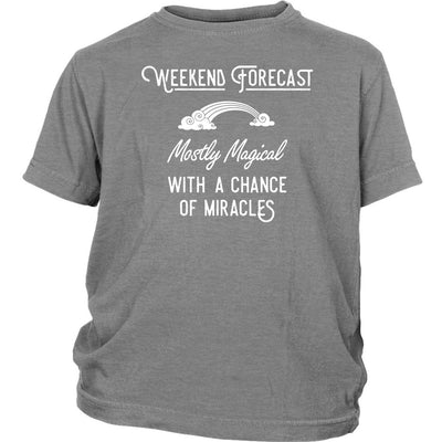 Weekend Forecast: Mostly Magical with a Chance of Miracles • Kid's T-shirt T-shirt teelaunch Sport Grey XS