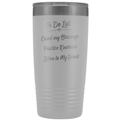 To Do List • 20oz Insulated Coffee Tumbler Tumblers teelaunch White