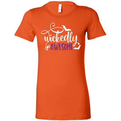 Wickedly Awesome • Women's Tees & Tanks T-shirt teelaunch Cotton Tee Orange S