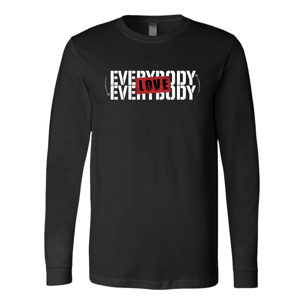 Love Everybody Unisex Tees & Tanks T-shirt teelaunch Long Sleeve Black S