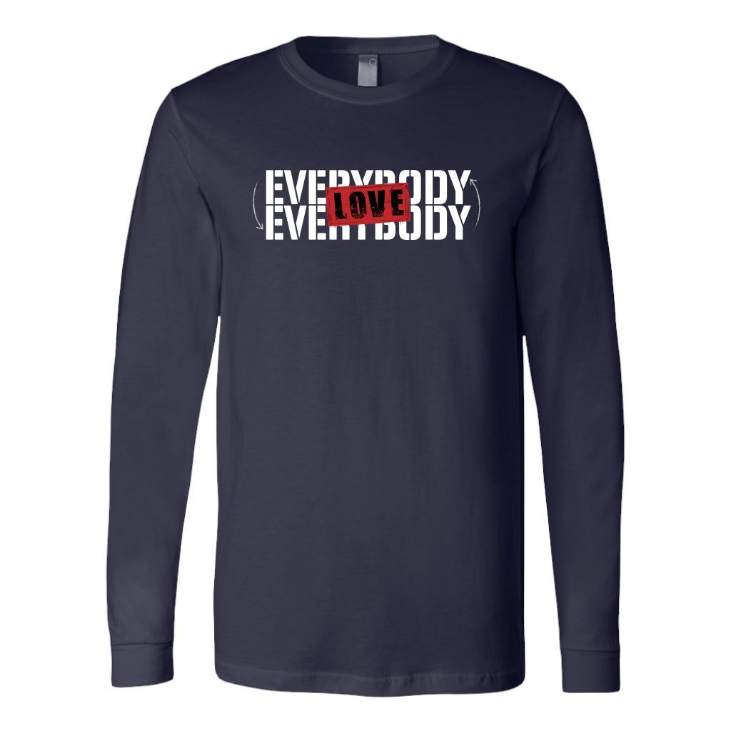 Love Everybody Unisex Tees & Tanks T-shirt teelaunch Long Sleeve Navy S