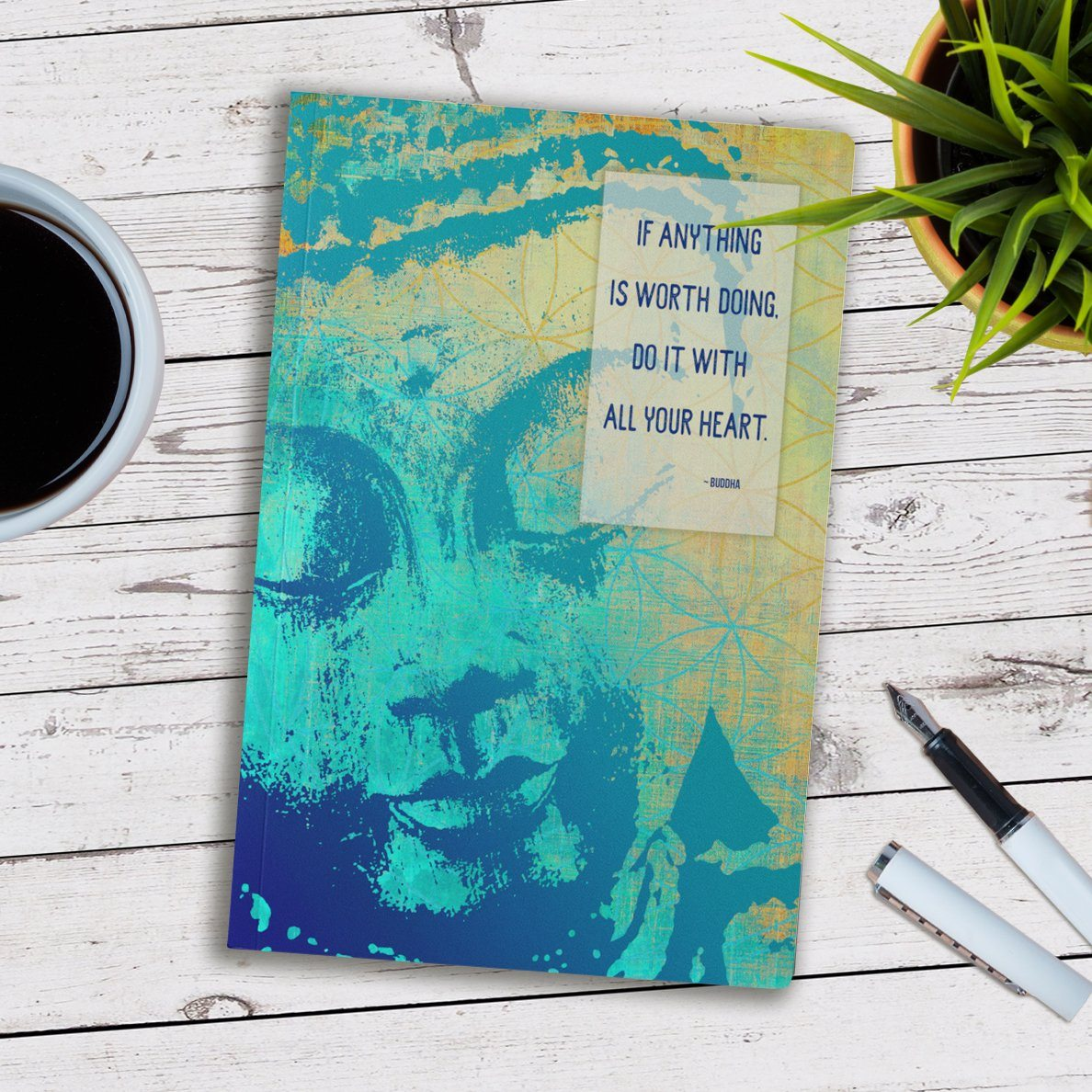 Tree Of Life Buddha Writing Journal