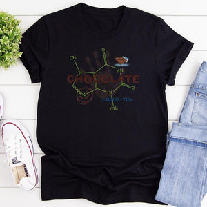 Chocolate Molecule Theobromine Unisex T-Shirts for Chocolate Lovers