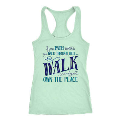 Walk Through Hell Blue Design • Women's Tank Top T-shirt teelaunch Mint S