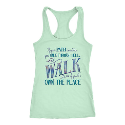 Walk Through Hell • Women's Tank Top T-shirt teelaunch Mint XS