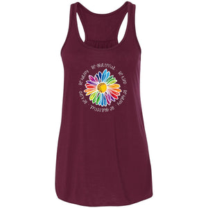 Gail's Rainbow Kindness Daisy • Flowy Tank T-Shirts CustomCat Maroon X-Small