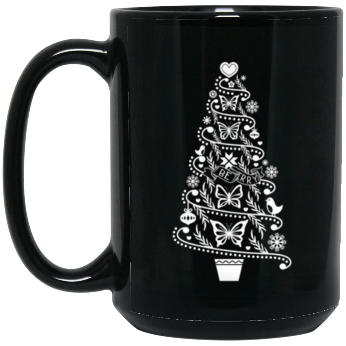 Hygge Christmas Tree Coffee Mug • Cottagecore Cozy Vibes Holiday Mug Drinkware CustomCat 15oz.