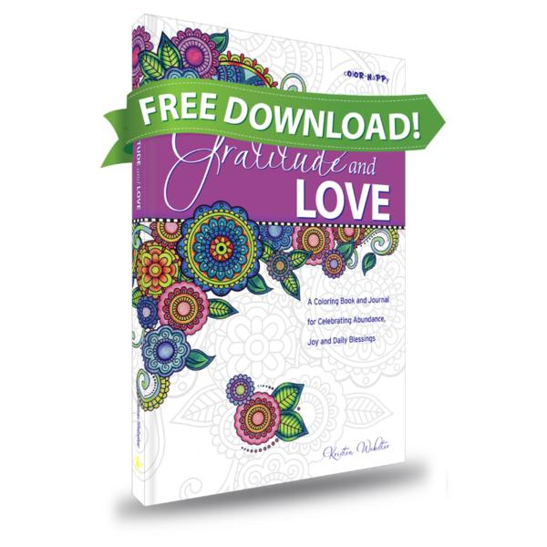 FREE! Gratitude and Love: Daily Gratitude Journal with Coloring Pages • Mini Version
