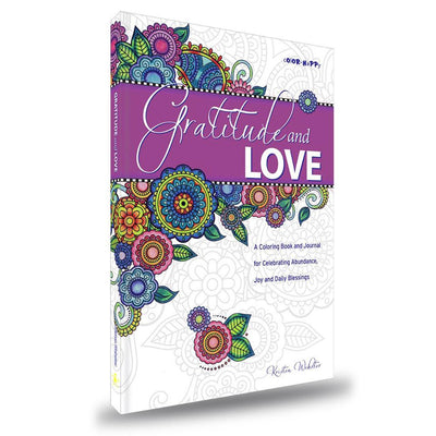 Gratitude and Love: Daily Gratitude Journal with Coloring Pages book ColorHappy