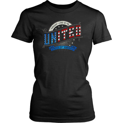 I Thought I Lived in the UNITED States of America • Women's Tees T-shirt teelaunch Crew Neck Black XS