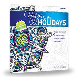 Happy for the Holidays: Coloring book with 12 simple tricks to help you relax, de-stress and enjoy the holidays! Book Color Happy