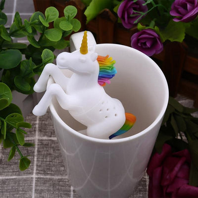 Unicorn Tea Diffuser tea infuser Salmon Olive