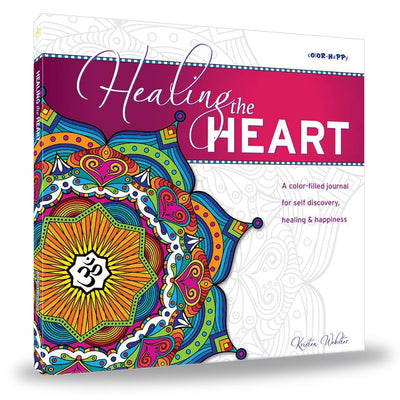 Healing the Heart: A coloring book and journal for self discovery, healing & happiness book ColorHappy