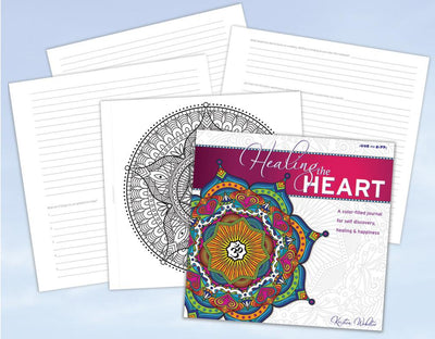 EXCLUSIVE! Color Happy's own Design – Healing the Heart: A coloring book and journal for self discovery, healing & happiness