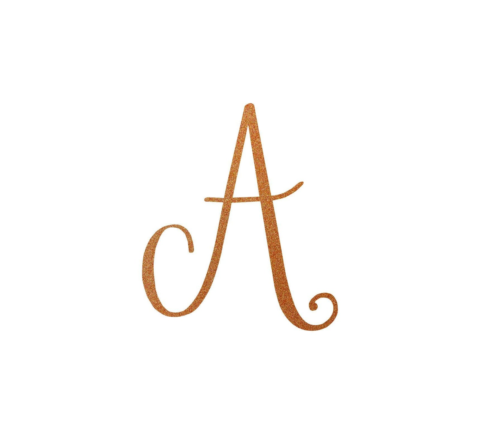 Script Initial Monogram Letter Sign Metal Wall Art