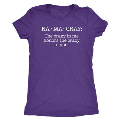 Na•Ma•Cray • Women's DriFit Athletic Tee T-shirt teelaunch Purple Rush S