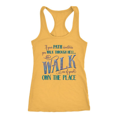 Walk Through Hell • Women's Tank Top T-shirt teelaunch Banana Cream XS
