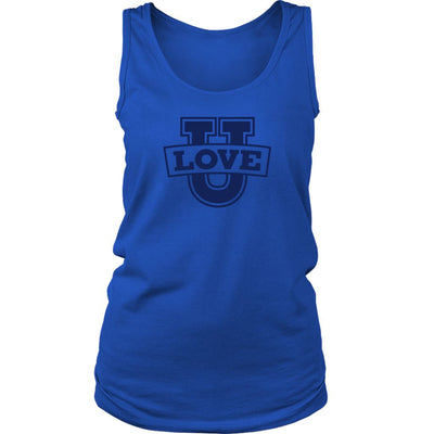 Love U • Women's Tank Top T-shirt teelaunch Wide Strap Royal S