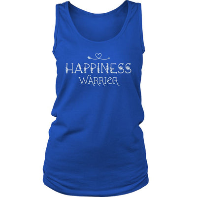 Happiness Warrior • Women's Tees & Tank Tops T-shirt teelaunch Wide Strap Tank Royal Blue S
