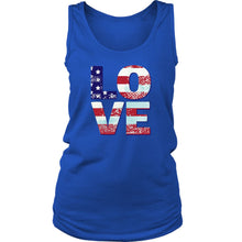 Patriotic Love Women's Racerback Tank Top