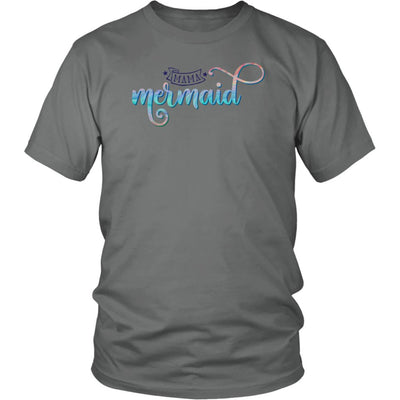 Mama Mermaid • Women's Tees T-shirt teelaunch Unisex Tee Grey S