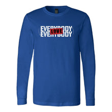 Love Everybody Unisex Tees & Tanks T-shirt teelaunch Long Sleeve Royal S