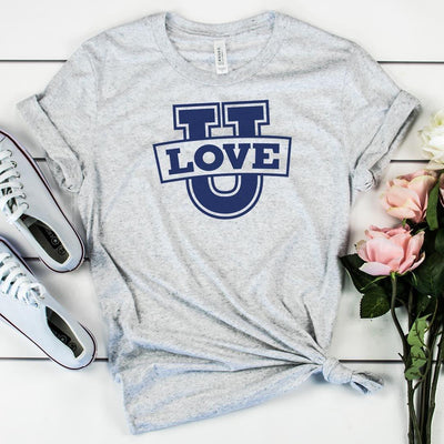 Love U • Women's Tees T-shirt teelaunch Cotton Tee Heather Grey S