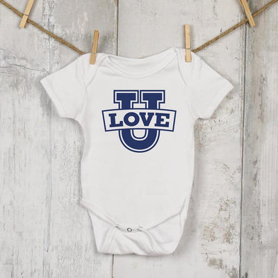 Love U • Babies & Kids Tees T-shirt teelaunch Onsie White NB