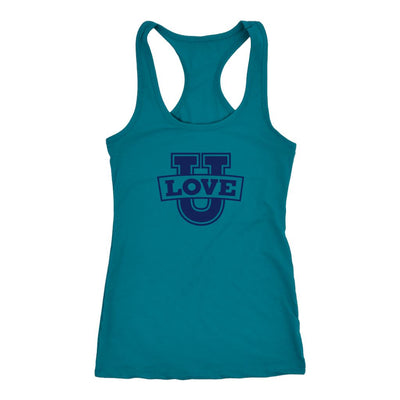 Love U • Women's Tank Top T-shirt teelaunch Racerback Turquoise XS