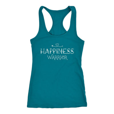 Happiness Warrior • Women's Tees & Tank Tops T-shirt teelaunch Racerback Tank Turquoise XS