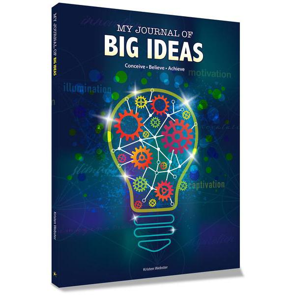 My Journal of Big Ideas: Conceive, Believe, Achieve book Color Happy