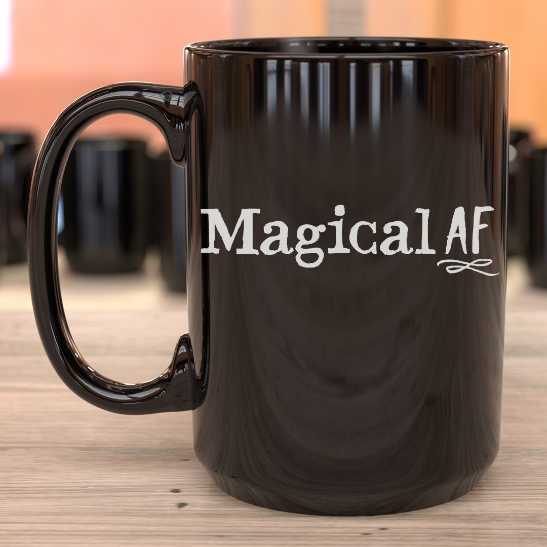 Magical AF • 15oz. Halloween Mug Drinkware CustomCat Magical AF