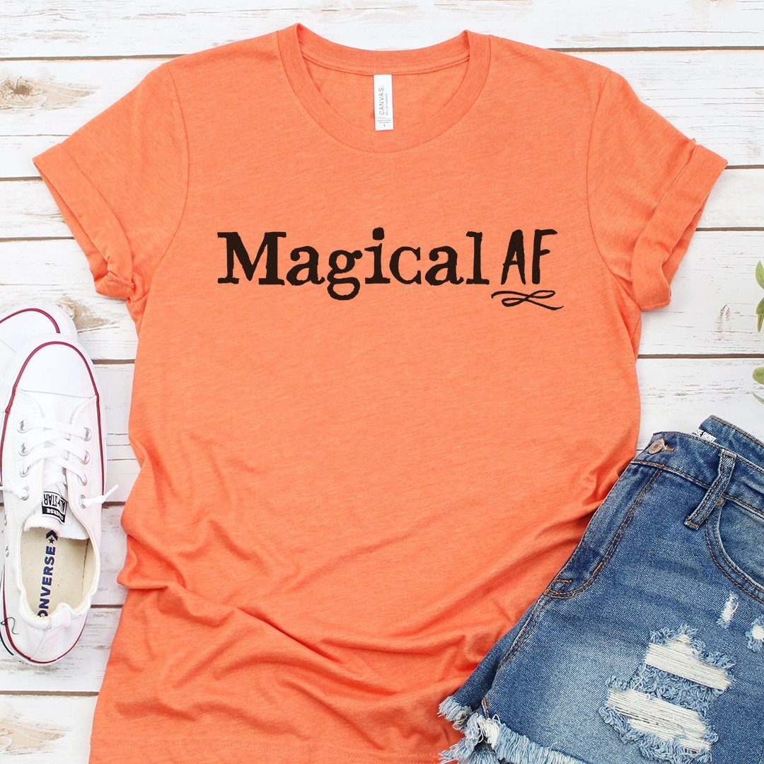 Magical AF • Women's Tees T-shirt teelaunch DriFit Tee Vintage Light Orange S