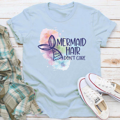 Mermaid Hair, Don't Care • Women's Tees and Tank Tops T-shirt teelaunch Unisex Tee Ice Blue S