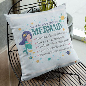 How To Tell If You're A Mermaid Throw Pillows