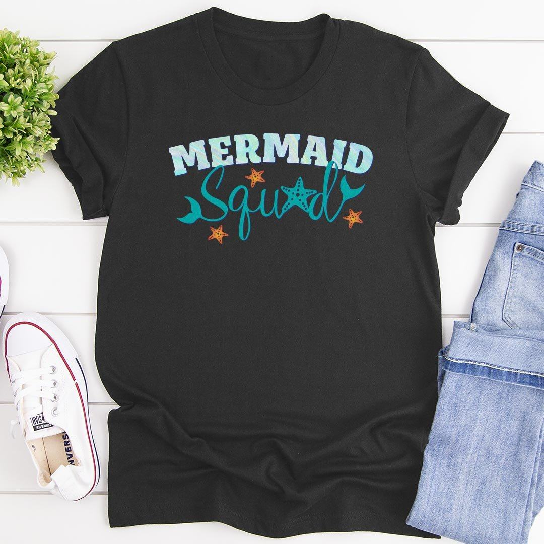 Mermaid Squad • Women's Tees T-shirt teelaunch Cotton Tee Heavy Metal S