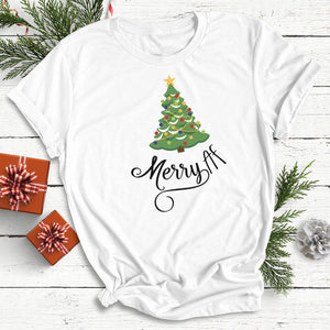 Merry AF Christmas Tree Unisex T-shirt