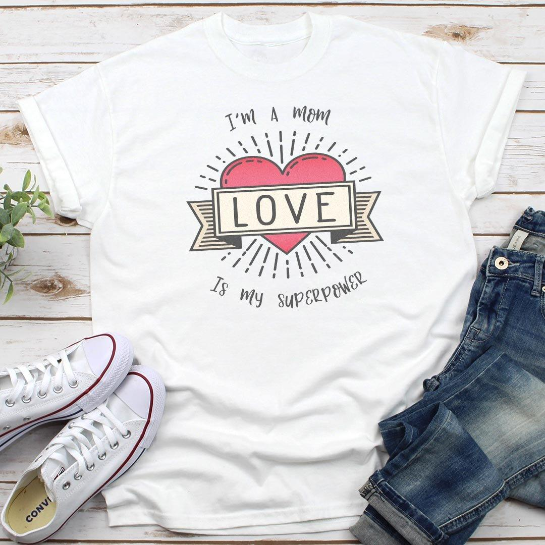 Love Is My Superpower • Women's Tees & Tank Tops T-shirt teelaunch Cotton Tee Heather Grey S