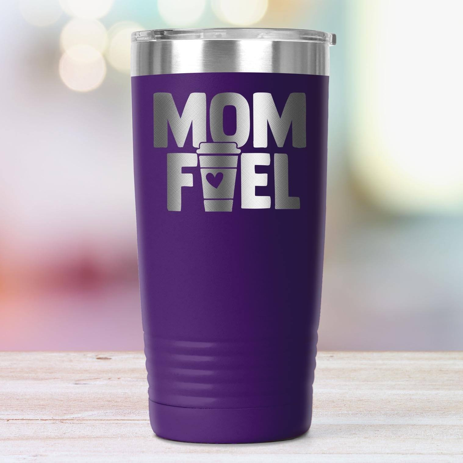 Mom Fuel Bold • 20oz. Insulated Coffee Tumbler Tumblers teelaunch Purple