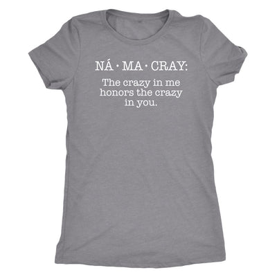 Na•Ma•Cray • Women's DriFit Athletic Tee T-shirt teelaunch Heather Grey S