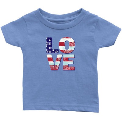 Patriotic Love • Toddler Tees T-shirt teelaunch Baby Blue 6M
