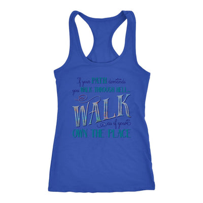 Walk Through Hell • Women's Tank Top T-shirt teelaunch Royal XS