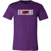 Love Everybody Unisex Tees & Tanks T-shirt teelaunch Crew Neck Purple S