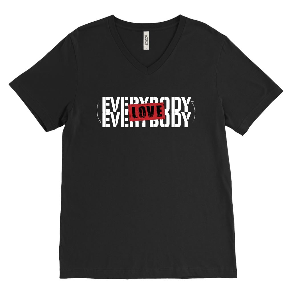 Everybody Love Everybody • Unisex Tees & Tanks T-shirt teelaunch Canvas Mens V-Neck Black S