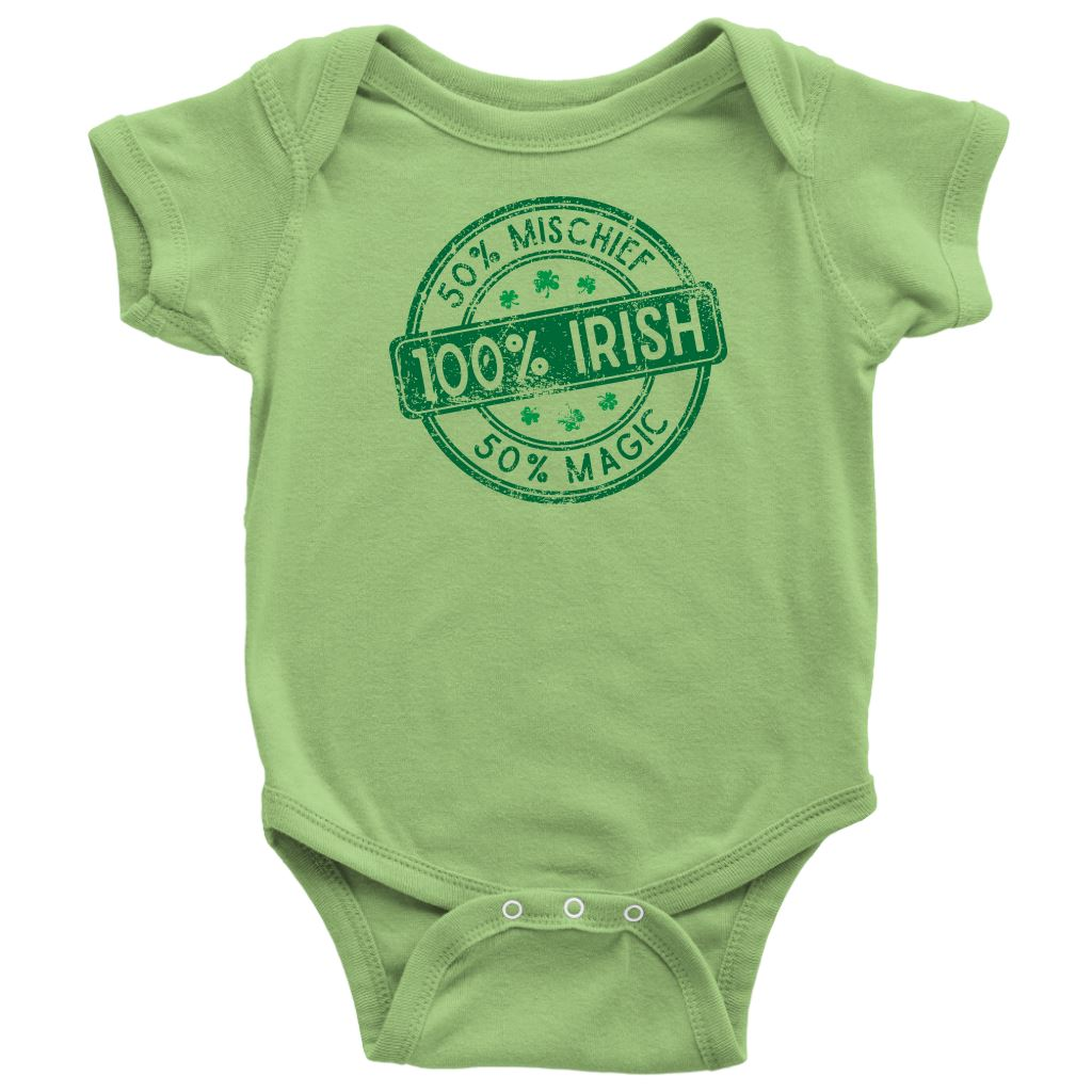 50% Mischief, 50% Magic, 100% IRISH Infant and Kids T-shirts