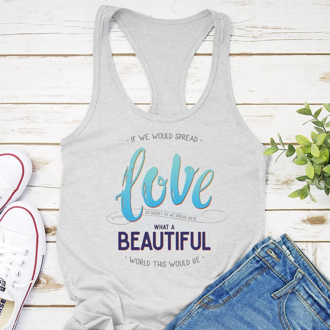 Spread Love Women's Racerback Tank Top